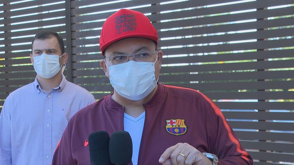 Governador do DF, Ibaneis Rocha — Foto: TV Globo/Reprodução