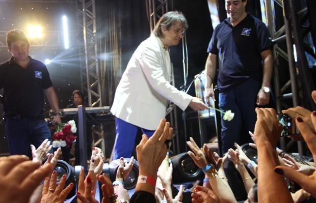 Roberto Carlos celebra seus 77 anos em show (Foto: AgNews)