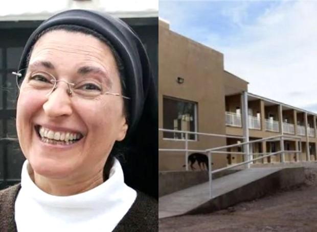 A freira Mónica Astorga idealizou o primeiro condomínio para mulheres trans no mundo (Foto: Reprodução/Télam)