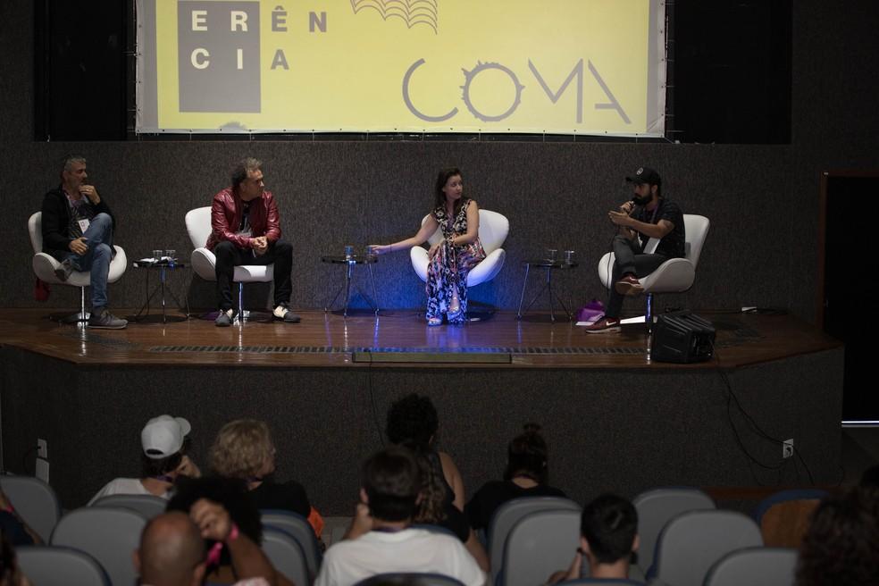 Conferência do Festival CoMA, em Brasília — Foto: Luíza Spindola/Divulgação