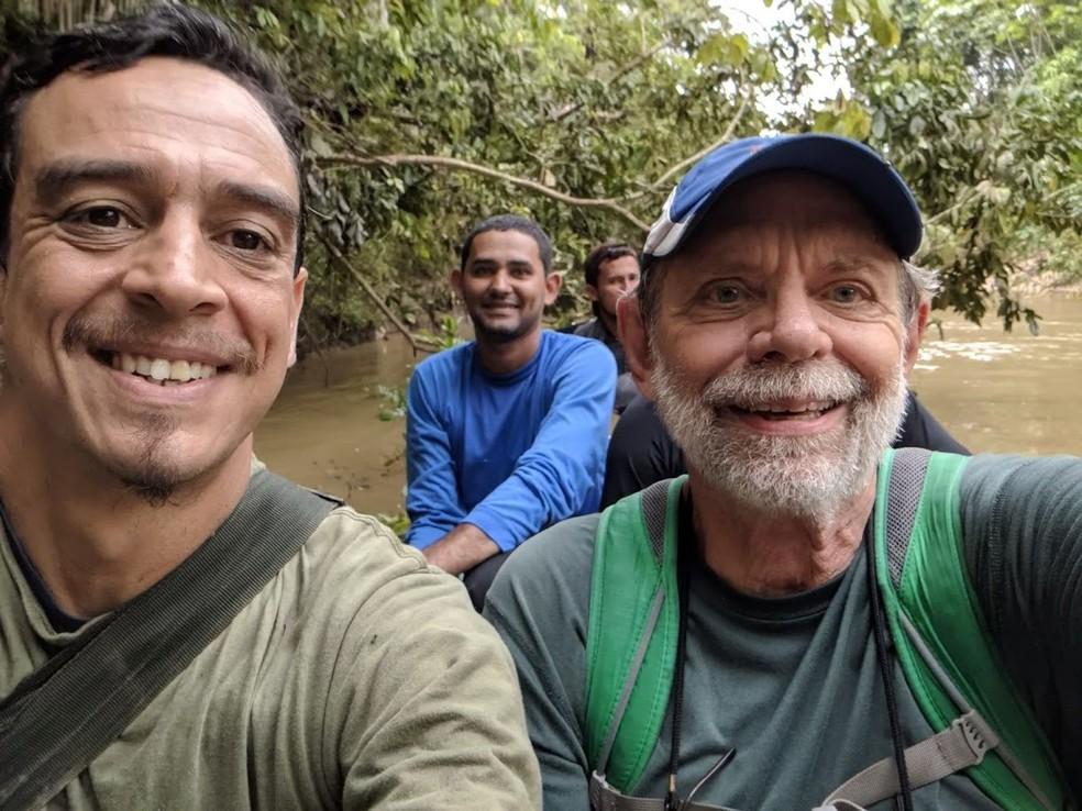 Expedições foram feitas na região amazônica seguindo pistas de registros anteriores — Foto: Dave Skinner/Arquivo pessoal