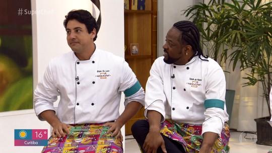 Bruno De Luca e Xande de Pilares estão na 2ª Panela de Pressão do 'Super Chef 2019'