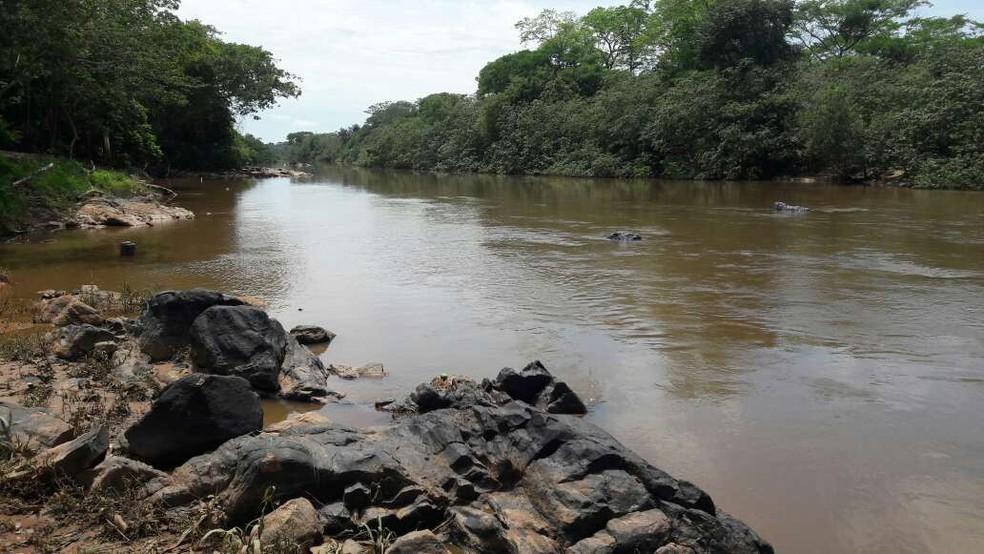 Amigos resgataram jovem que se afogava no Rio Jaru — Foto: Rinaldo Moreira/G1