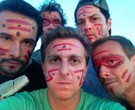 Luciano Huck, Marcello Novaes, Rodrigo Santoro, Marcelo Serrado e Carlos Burle no Amapá
