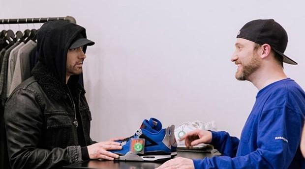 O rapper Eminem e Josh Luber (Foto: Divulgação)