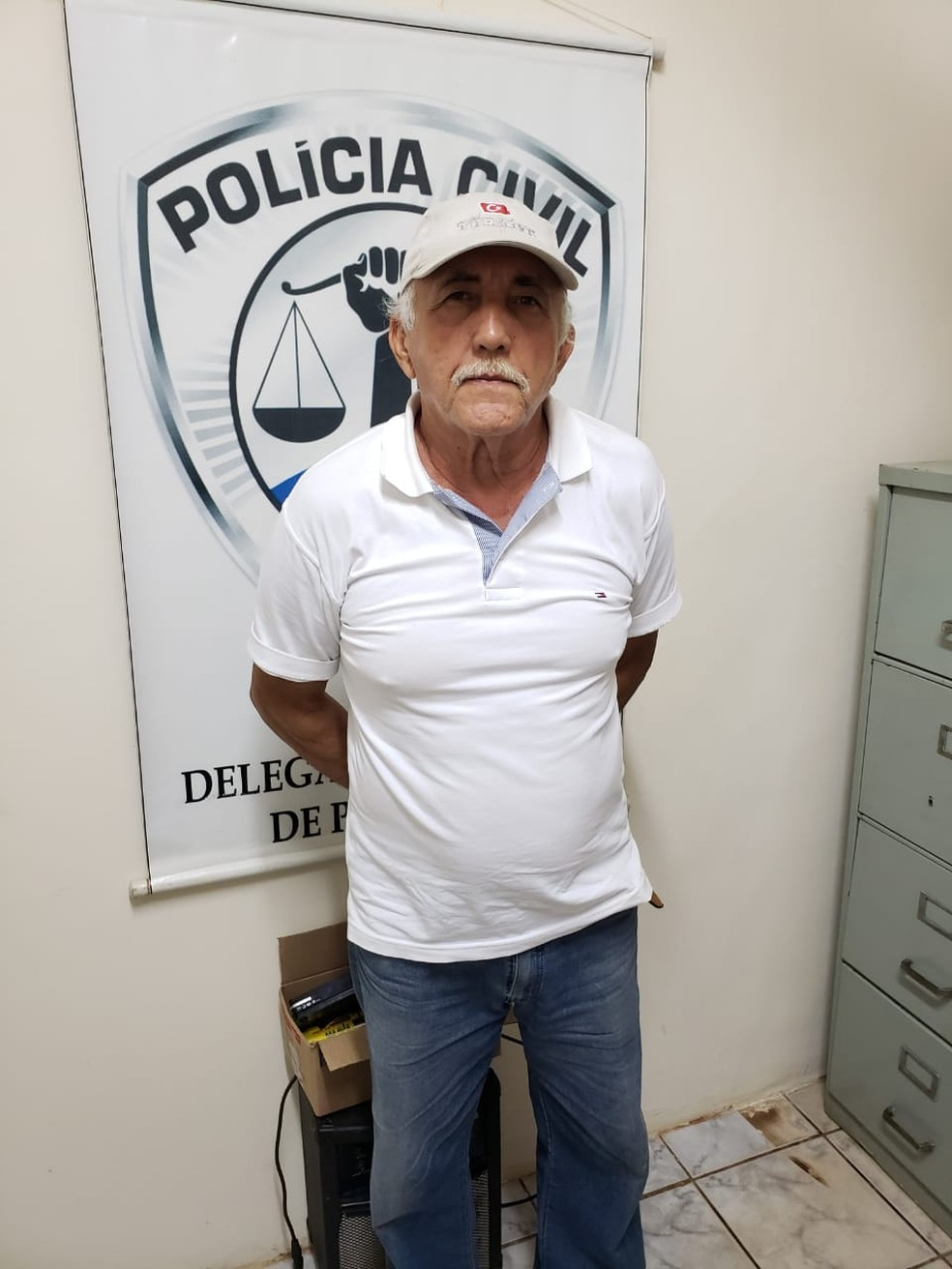 José Carlos Ferreira de Melo foi preso por homicídio cometido em Lima Campos  — Foto: Divulgação/Polícia Civil