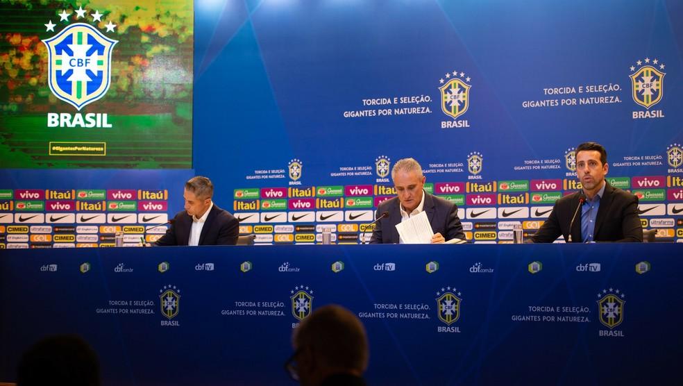 Tite na convocação seleção para amistosos contra Uruguai e Camarões — Foto: Pedro Martins / MoWA Press