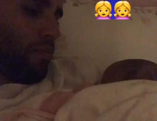 Daniel Cady, marido de Ivete Sangalo, com filha (Foto: Reprodução/Instagram)