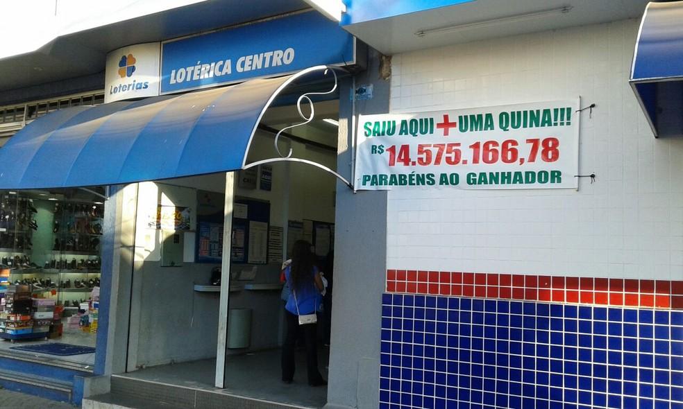 Prêmio de mais de R$ 14 milhões da Quina saiu em lotérica da área central de Avaré (Foto: Arquivo pessoal/Paulo Alves)