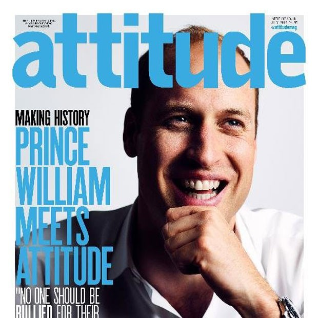 O príncipe William saiu na capa da Attitude, principal revista gay do Reino Unido (Foto: Reprodução/Twitter/Attitude)