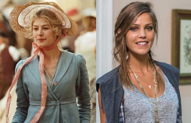 Pâmela Tomé será Jane, irmã e melhor amiga de Elizabeta, papel que foi de Rosamund Pike no longa de 2005 (Foto: Reprodução)
