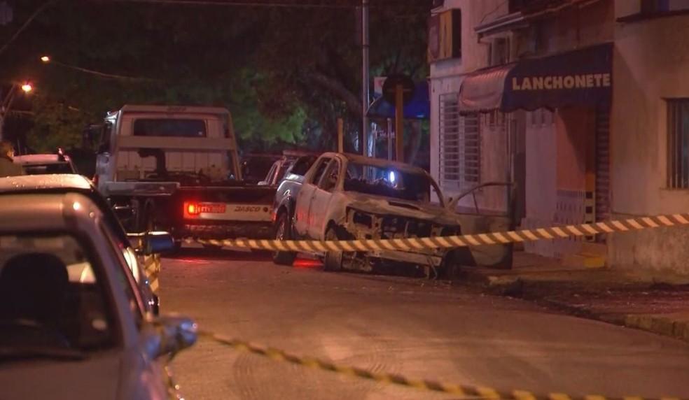 Criminosos causaram pânico em Botucatu durante ataque a agências; uma delas foi explodida  — Foto: TV TEM/ Reprodução