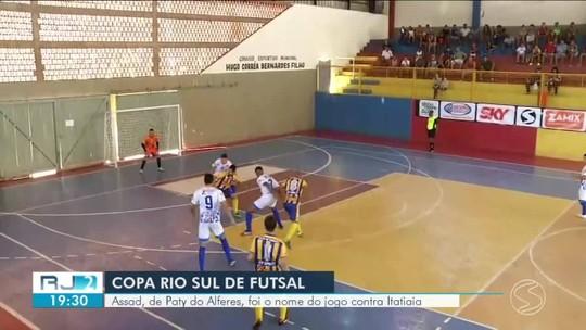 Copa Rio Sul de Futsal: Assad, de Paty do Alferes, foi o nome do jogo contra Itatiaia