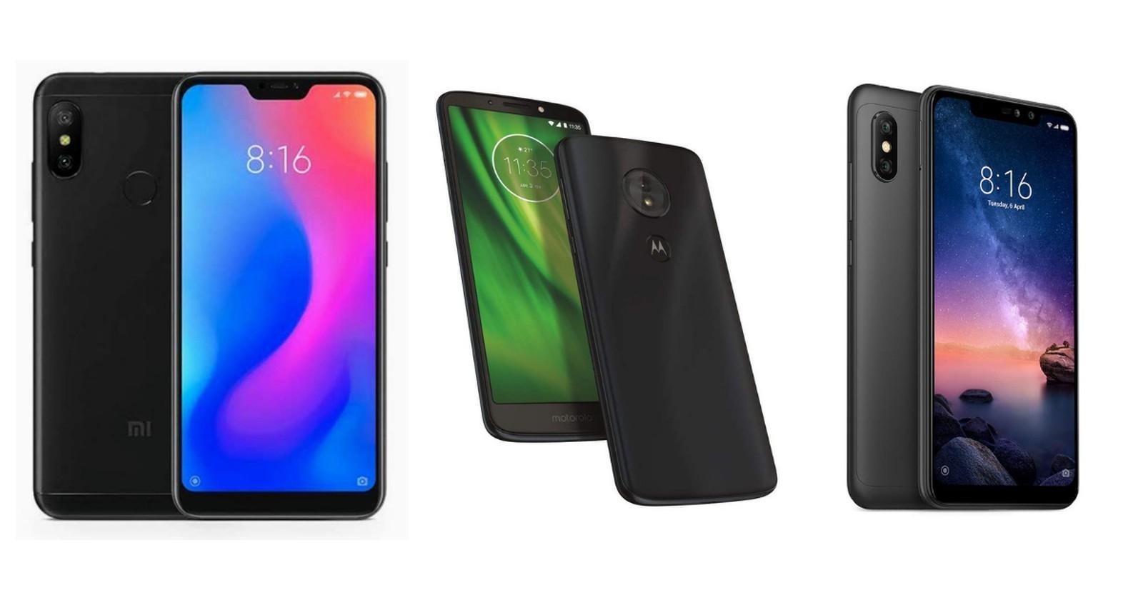 Mi A2, Moto G6 Play e Redmi Note 9 Pro (Foto: Divulgação/Amazon)