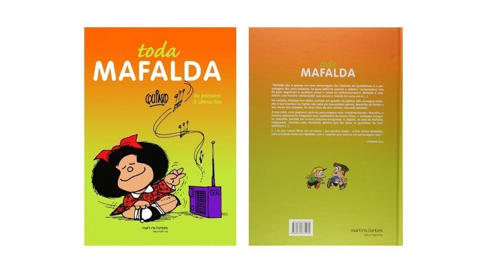 Toda Mafalda contém todas as tirinhas sobre a personagem que foram publicadas entre 1964 e 1975 (Foto: Divulgação/Amazon)