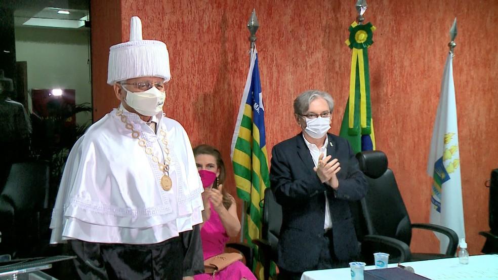 Gildásio Guedes Fernandes, novo reitor da UPFI — Foto: Reprodução/TV Clube