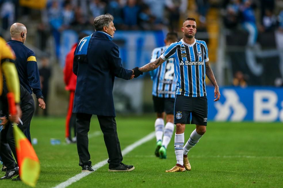 Luan não vive seu melhor momento (Foto: Lucas Uebel / Grêmio, DVG)