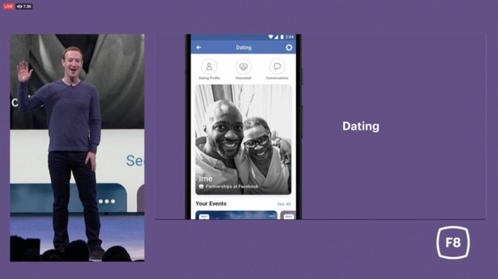 Ferramenta de namoro é um dos anúncios da F8 — Foto: Divulgação/Facebook