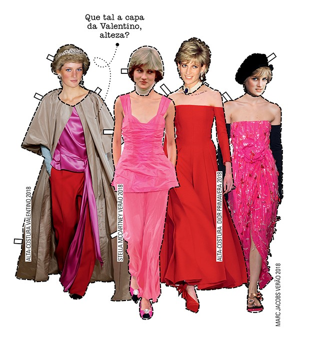 recorte e cole... E copie as produções recém-saídas dos desfiles internacionais que são a cara da princesa Diana. Do conjuntinho Stella McCartney ao longo Dior,  a inspiração para um closet de festa colorido está garantida.  (Foto: .)