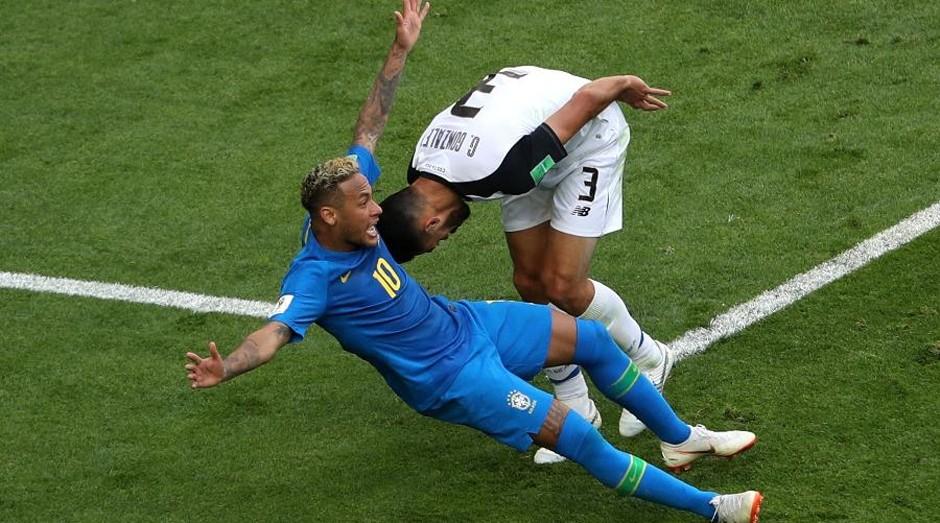 Neymar em ação na Copa do Mundo (Foto: Reprodução)