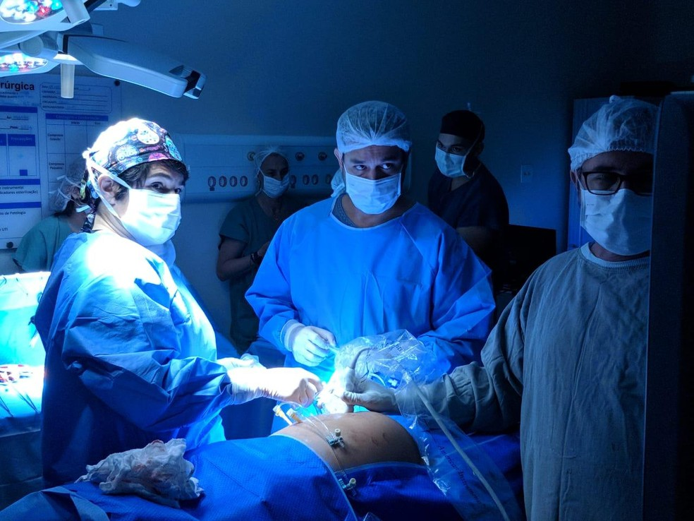 Cirurgia inédita foi feita por médicos em Rio Preto  — Foto: Divulgação/ Hospital da Criança e Maternidade