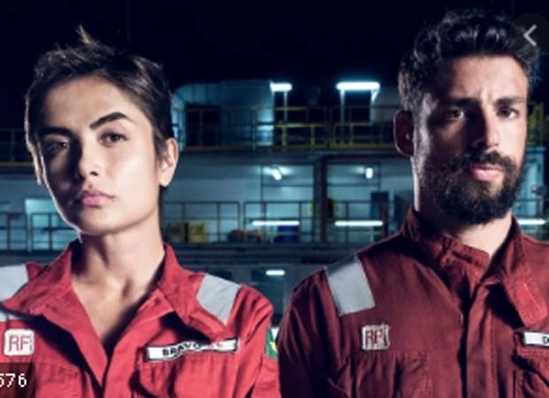 Maria Casadevall e Cauã Reymond em Ilha de Ferro (Foto: TV Globo)