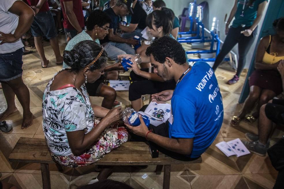 Em 2019, moradores do Alto Sertão da Bahia aprenderam a construir soluções para falta de energia elétrica — Foto: Renan Carlos