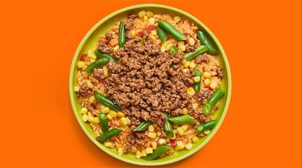 """""""Taco Bowl"""", um dos pratos da Yumble, que também oferece refeições vegetarianas, sem lactose, sem glúten, sem ovo e sem soja (Foto: Divulgação)"""