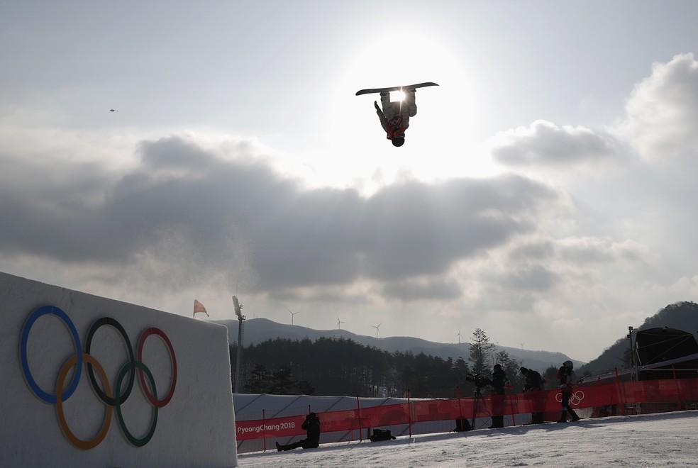 Big Air feminino na Olimpíada de Inverno — Foto: Kim Hong-Ji/Reuters