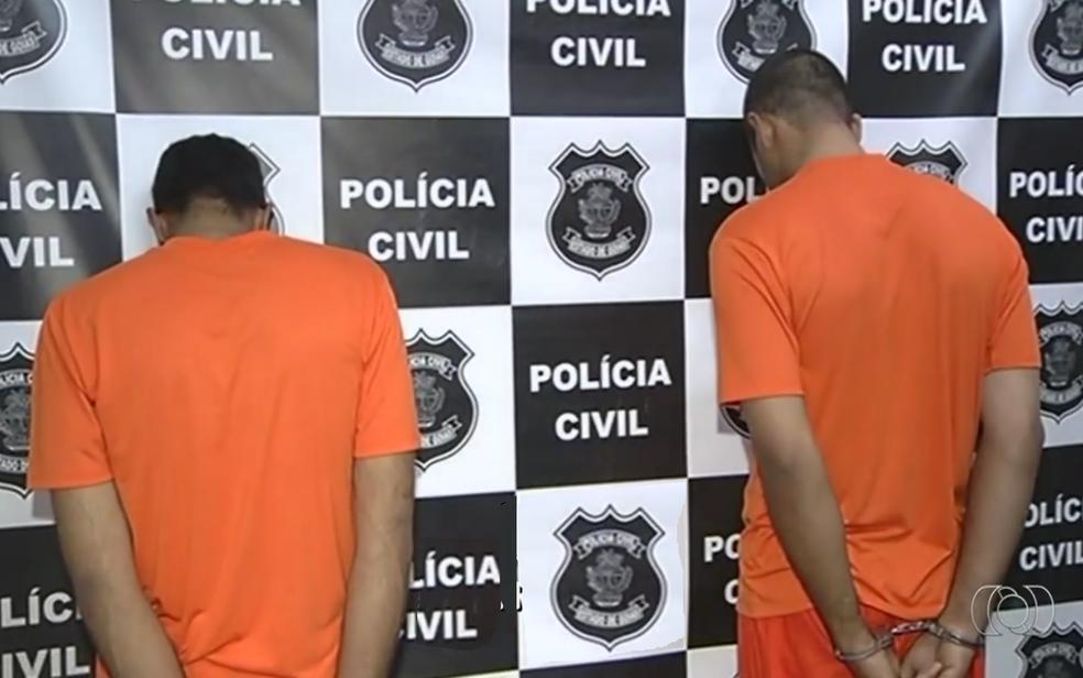 Homens confessaram ter matado família de idosos em Catalão, em Goiás (Foto: TV Anhanguera/Reprodução)