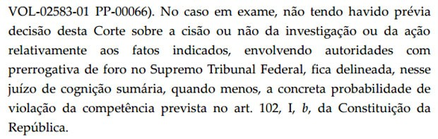 Teori Zavascki frase decisão Moro (Foto: Alexandre Durão/G1)