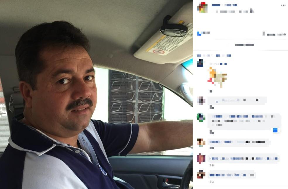 Empresário foi assassinado a tiros dentro de uma loja no centro comercial que leva o nome do apelido dele, Salim, em Caucaia — Foto: Reprodução/Facebook