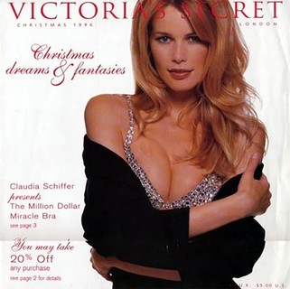 Claudia Schiffer, 1996 - The Million Dollar Miracle Bra, US$1 milhão