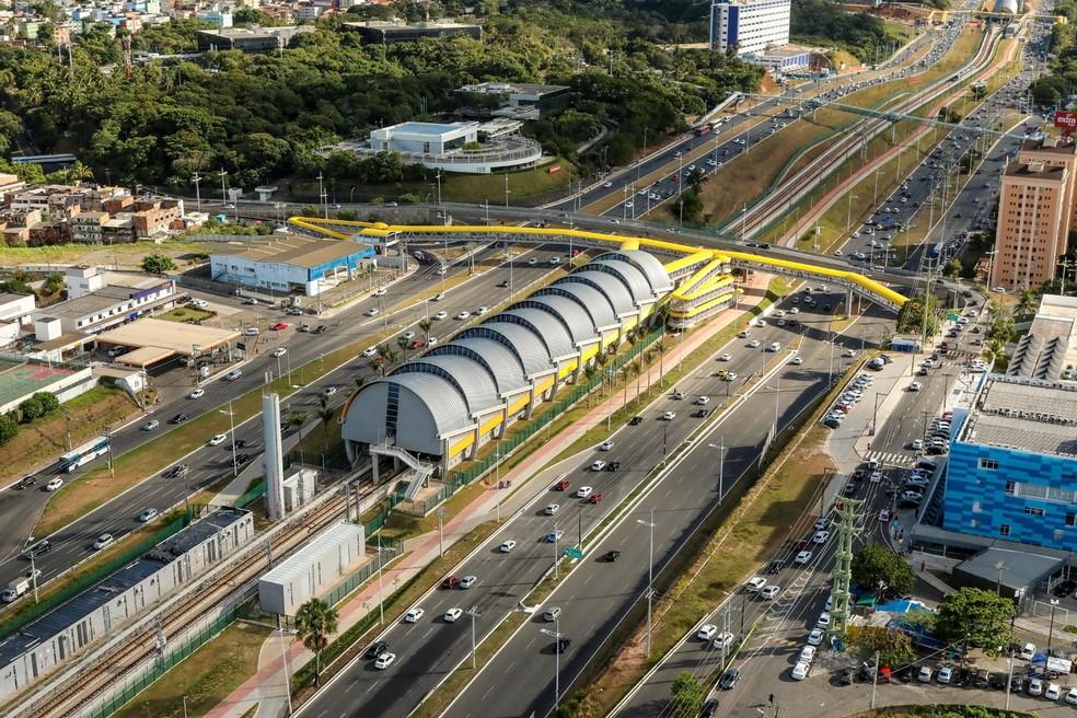 """Estação Imbuí é uma das nove """"típicas"""" da Linha 2 do metrô da capital baiana (Foto: Divulgação)"""