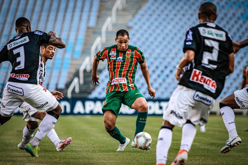 Última derrota do Sampaio foi para o Operário-PR há exato um mês — Foto: Lucas Almeida / L17 Comunicação