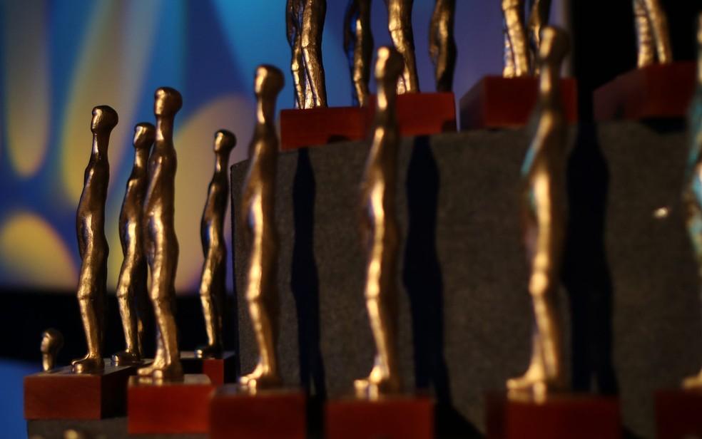 Troféu Candango, prêmio na mostra competitiva do Festival de cinema de Brasília, em imagem de arquivo — Foto: André Borges/Agência Brasília