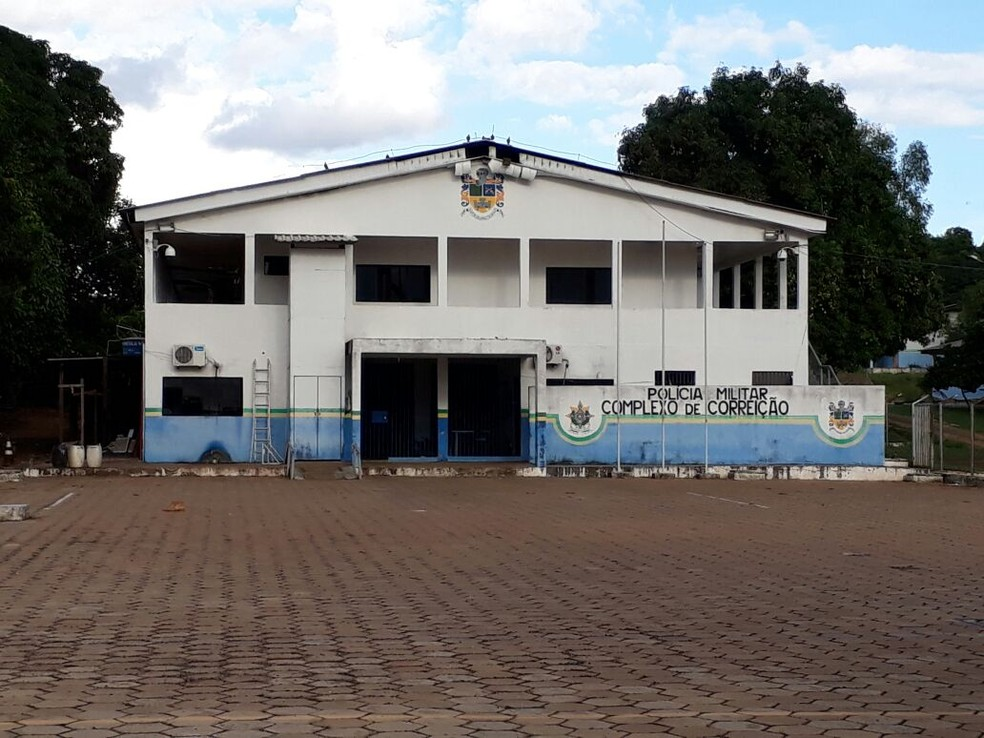 Prédio do Centro de Correição da Polícia Militar de Rondônia (Foto: Marcelo Winter/Rede Amazônica)