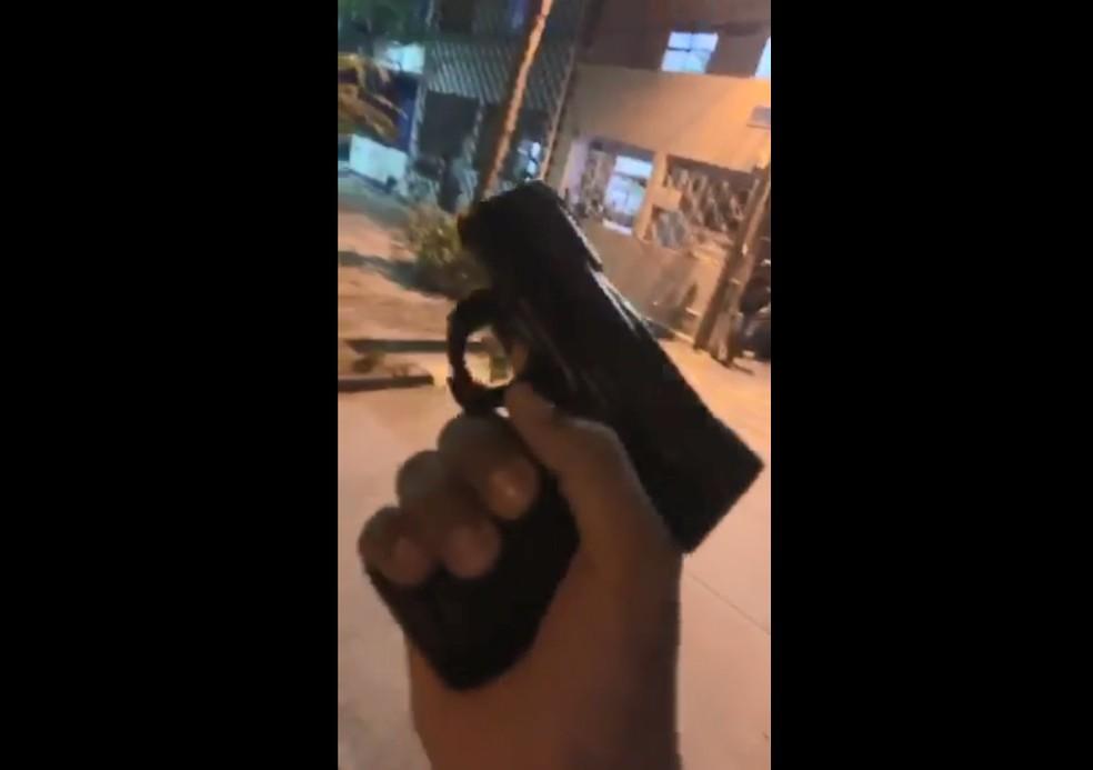 Grupo divulgou vídeo exibindo armas — Foto: Divulgação/SSP-BA