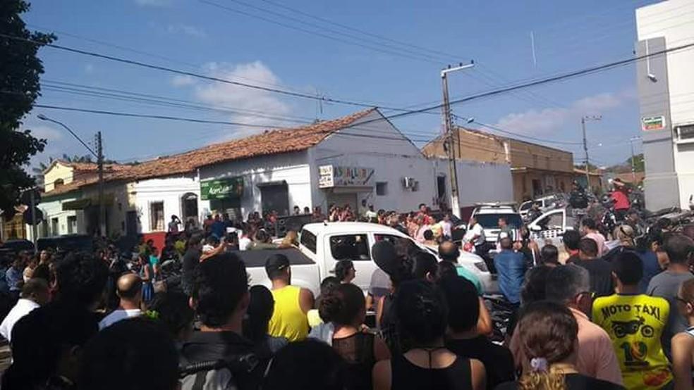 Protesto em Barra do Corda (Foto: Divulgação / Élbio Carvalho)