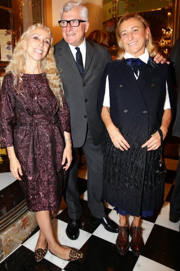 Franca Sozzani, Patrizio Bertelli e Miuccia Prada (Foto: Getty Images)