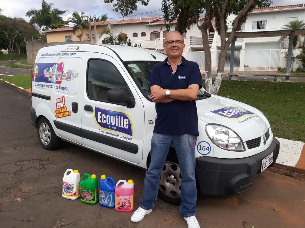 Márcio Nogueira, de 62 anos: vontade de abrir negócio veio após a aposentadoria. — Foto: Divulgação/Ecoville