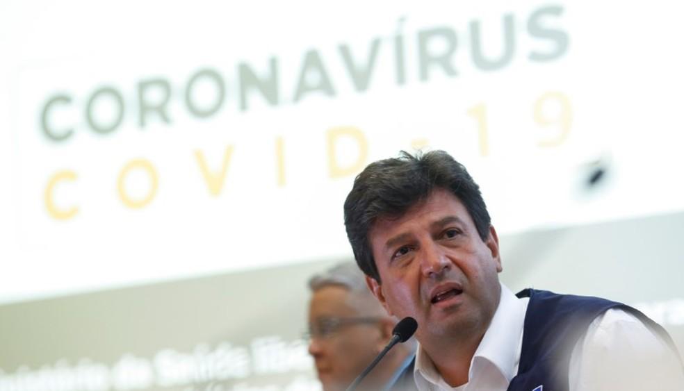 O  ministro da Saúde, Luiz Henrique Mandetta  — Foto: REUTERS/Adriano Machado