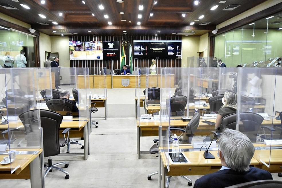 Vetos foram derrubados durante sessão realizada nesta quarta-feira (23). — Foto: Divulgação