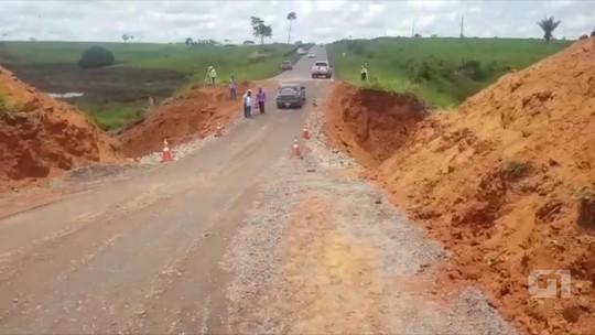 Dnit vai fazer desvio para reconstruir trecho que rompeu em rodovia no Acre