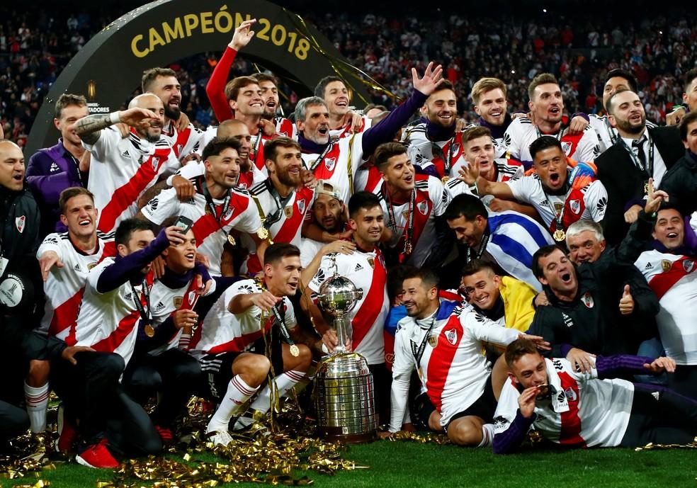 Em Madri, River Plate sagra-se campeão da Libertadores da América. — Foto: REUTERS/Juan Medina