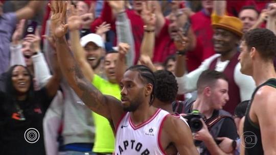 Kawhi Leonard brilha, leva os Raptors à final da NBA pela 1ª vez na história e é o cara da semana