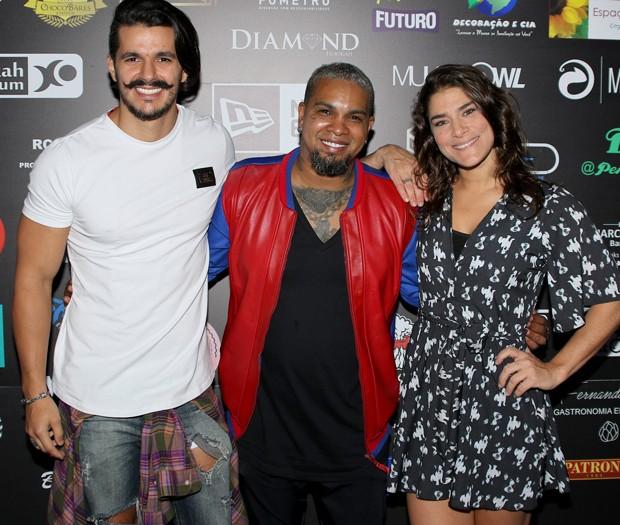 Bruno Lopes, Rodriguinho e Priscila Fantin (Foto: Thiago Duran/AgNews)