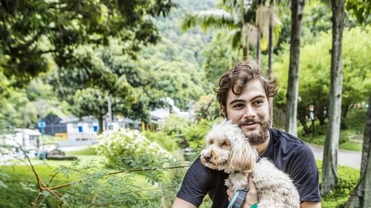 Rafael Vitti fala sobre seus seus novos cachorrinhos: 'Meus amores. Sou feliz'
