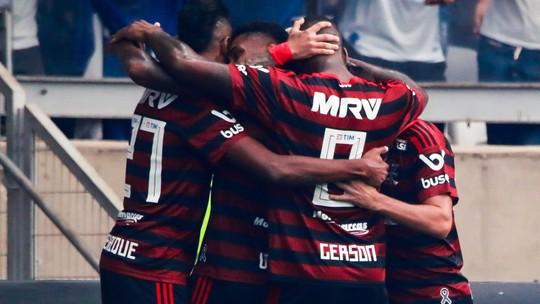 Veja os gols de Gabigol e Arrascaeta: Cruzeiro 1 x 2 Flamengo