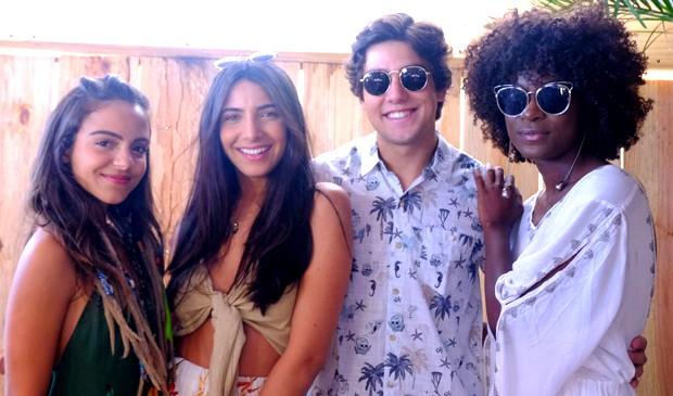 Pally Siqueira,  Rayssa Bratillieri, Daniel Rangel e Jeniffer Dias (Foto: Renato Wrobel/ QUEM)